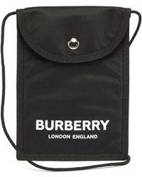 Burberry Sac bandoulière à imprimé logo - Noir