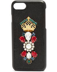 Dolce & Gabbana - Iguana Crystal Embellished Iphone® 7 Case - Lyst