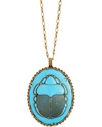 Gucci - Beetle Necklace - Lyst