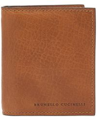 Brunello Cucinelli - グレインレザー バイフォールドウォレット - Lyst