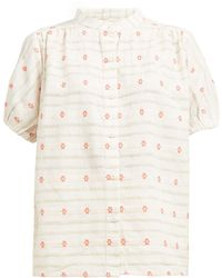 Ace & Jig Aiden Embroidered Cotton Shirt - White