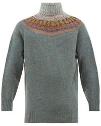 Bless Bohus Roll Neck Wool Blend Sweater - Multicolor