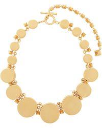Valentino Circular Rockstud Embellished Choker Necklace - Metallic