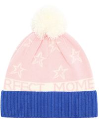 Perfect Moment Star-intarsia Wool-blend Beanie - Pink