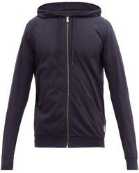 Paul Smith Signature Stripe Zip-through Hooded Sweatshirt - Blue