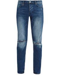 Neuw - Iggy Ripped Knee Slim Leg Denim Jeans - Lyst