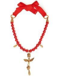 Valentino - Bead-embellished Necklace - Lyst