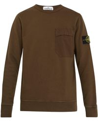Stone Island - Crew Neck Cotton Sweatshirt - Lyst