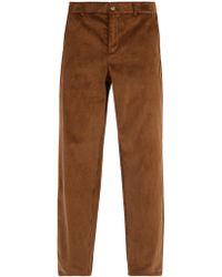 De Bonne Facture - Relaxed Leg Corduroy Trousers - Lyst