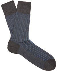 Falke - Shadow Bi-colour Knit Socks - Lyst