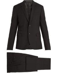 Valentino - Notch Lapel Wool Blend Suit - Lyst