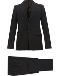 Prada Single-breasted Nylon-gabardine Suit - Black