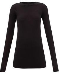 Rick Owens ロングスリーブ リブtシャツ - ブラック