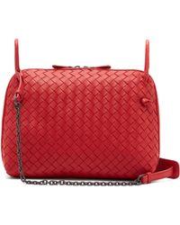 fc6e3ea40b Bottega Veneta Nodini Small Intrecciato Leather Cross-body Bag in ...