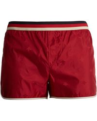 Gucci   Bee-jacquard Web-striped Swim Shorts   Lyst