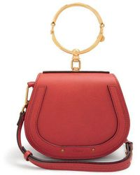 Chloé - Nile Small Leather And Suede Cross-body Bag - Lyst