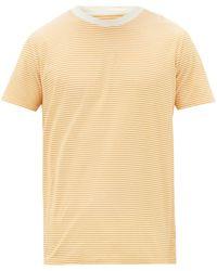 Folk ボーダー コットンtシャツ - マルチカラー