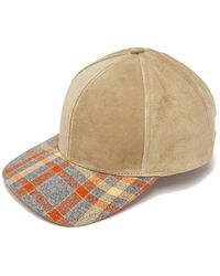 House of Lafayette - Plaid-brimmed Suede Cap - Lyst