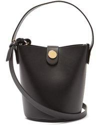 Sophie Hulme Nano Swing Leather Bucket Bag - Black