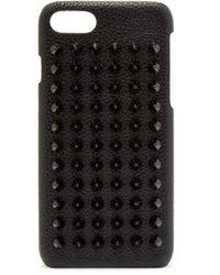 Christian Louboutin Loubiphone レザー Iphone® 8 ケース - ブラック