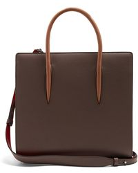Christian Louboutin - Paloma Medium Grained-leather Tote - Lyst