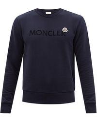 Moncler ロゴ コットンスウェットシャツ - ブルー