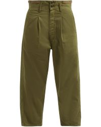 Chimala - High Rise Cropped Cotton Chinos - Lyst