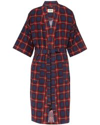 Fear Of God Checked Flannel Robe - Red