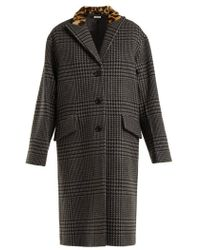 Miu Miu - Single-breasted Wool And Faux-fur Coat - Lyst