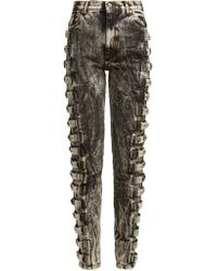 Gucci - Marble Wash Cotton Skinny Jeans - Lyst