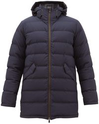 Herno Laminar Honeycomb-puckered Quilted Coat - Blue