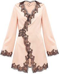 Agent Provocateur Amelea Lace-trimmed Silk-blend Pyjama Top - Pink