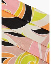 Emilio Pucci Dinamica-print Silk Face Covering - Pink