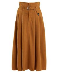 Toga - High Rise Belted Maxi Skirt - Lyst