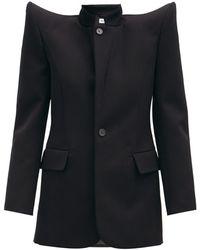 Balenciaga パゴダ ウールツイルジャケット - ブラック