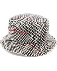 Ruslan Baginskiy Houndstooth Wool-blend Bucket Hat - Black