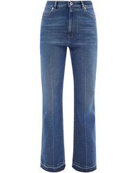 Valentino High-rise Flared-leg Jeans - Blue