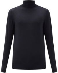 Sunspel タートルネック メリノウールセーター - ブラック
