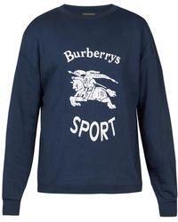 Burberry - Logo-print Cotton-blend Sweatshirt - Lyst