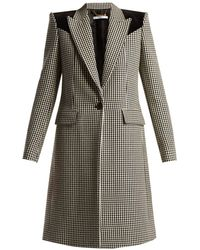 Givenchy - Panelled Houndstooth Wool Coat - Lyst