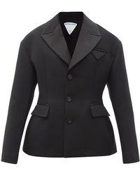 Bottega Veneta アワーグラス シングルジャケット - ブラック