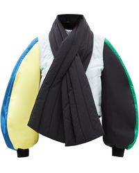 Loewe カラーブロック バルーンスリーブ ボンバージャケット - マルチカラー