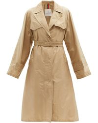 Moncler Rutilicus Belted Shell Trench Coat - Natural