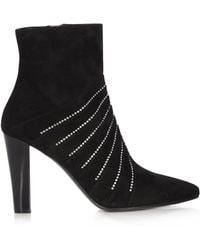 Saint Laurent - Lily Suede Ankle Boots - Lyst