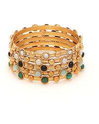 Sylvia Toledano Set Of Five Multi Stone Embellished Bracelets - Multicolour