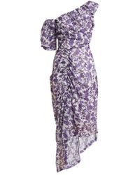 Preen By Thornton Bregazzi - Nicole Floral-print Off-the-shoulder Dress - Lyst