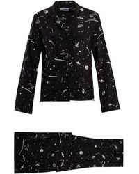 Rockins - Ufo-print Silk-crepe Pyjama Set - Lyst
