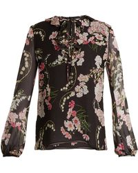 Giambattista Valli | Lily Of The Valley-print Silk-georgette Blouse | Lyst