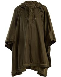 Moncler - Hooded Contrast-stitch Cape - Lyst