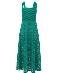 Gioia Bini Lucinda Macramé-lace Maxi Dress - Green